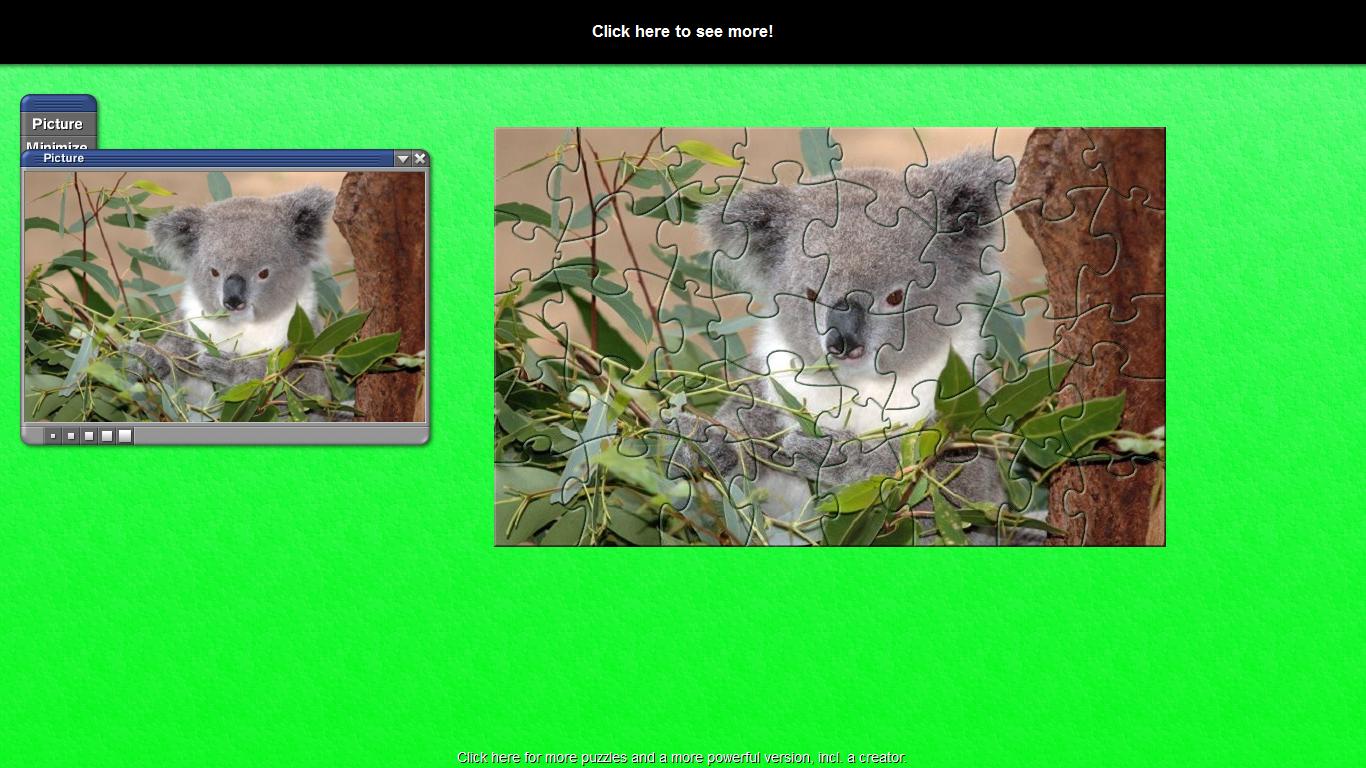 Click to view TL Greedy Koala Puzzle 1 screenshot